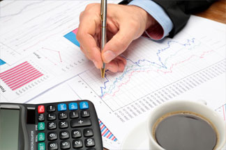 budget-charts-documents-calculator-smes